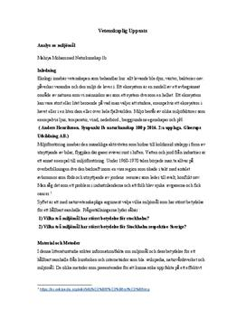Miljömål i Stockholm och övriga Sverige   Rapport