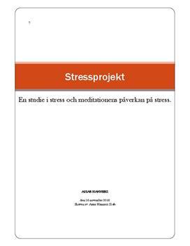 Stress och meditation | Undersökning