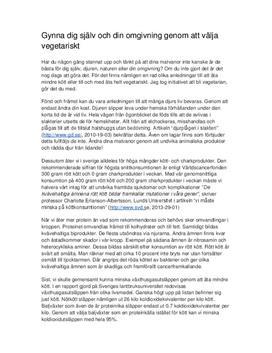 Ät vegetariskt   Argumenterande text
