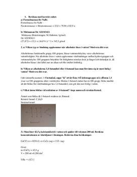 Blandade uppgifter i Kemi 1   Instuderingsfrågor
