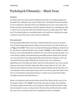 Black Swan av Darren Aronofsky | Psykologisk filmanalys