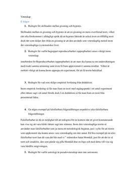 Vetenskapliga begrepp | Instuderingsfrågor