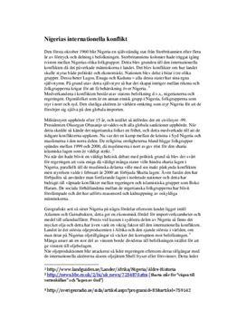 Konflikter i Nigeria | Fördjupningsarbete