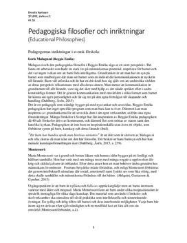 Reggio Emilia och Montessori | Jämförelse