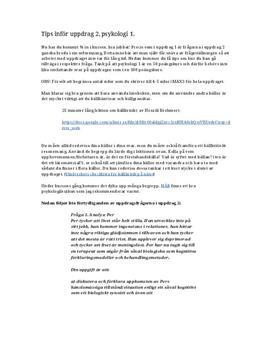 Kognitiva- och biologiska perspektivet | Inlämningsuppgift