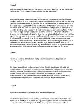 Den biologiska mångfalden   Frågor och svar