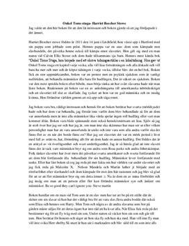 Onkel Toms Stuga av Harriet Beecher Stowe | Bokanalys
