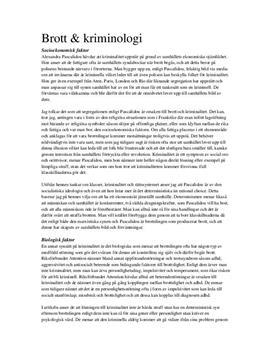 Brott och kriminologi | Inlämningsuppgift