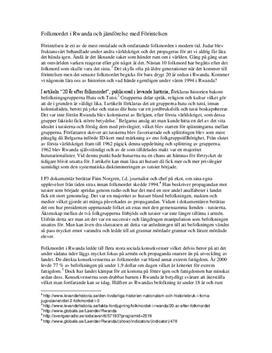 Folkmordet i Rwanda och förintelsen | Jämförelse
