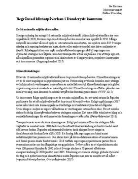 Klimatpåverkan i Danderyds kommun   Inlämningsuppgift