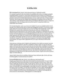 Källkritik av NE, SO-rummet och levande historia | Inlämningsuppgift