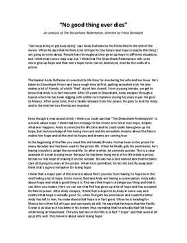 The Shawshank Redemption av Frank Darabont   Filmanalys