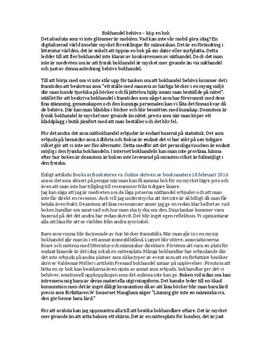 Bokhandel behövs | Argumenterande tal