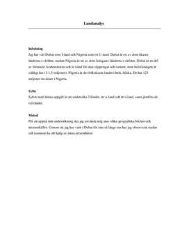 Dubai och Nigeria | Inlämningsuppgift