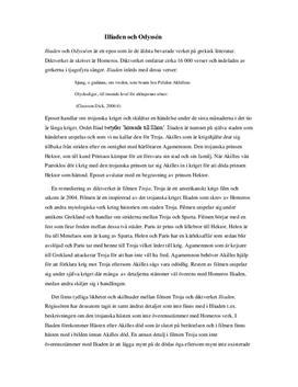 Iliaden och Odysséen och Troja | Jämförelse