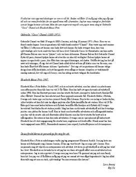 Elisabeth Massi Fritz och Coco Chanel | Jämförelse