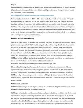 Nulägesanalys av H&M | Analys