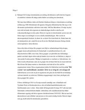 Sveriges demokratisering och Israel-Palestina-konflikten | Frågor och svar