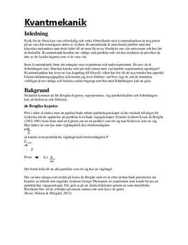 Kvantmekanik och Schrödingers katt | Fördjupningsuppgift