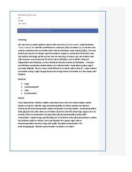 Mekanikens Gyllene Regel | Labbrapport