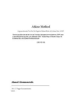 LCHF (Atkins Metod) | Sammanfattning