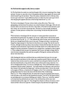 On the Road av Jack Kerouac | Literary analysis