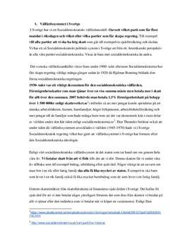 Välfärdssystemet i Sverige og USA   Jamförelse