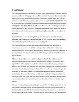 Shakespeare   Frågor och svar