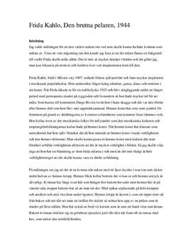 Den brutna pelaren | Bildanalys