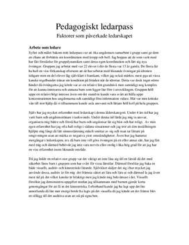 Pedagogisk ledarskap | Analys