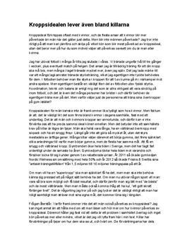 Kroppsideal bland män | Diskuterande text