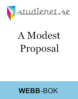 A Modest Proposal By Jonathan Swift Studienet Se