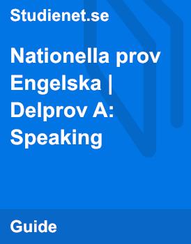 Nationella prov | Engelska | Delprov A: Speaking
