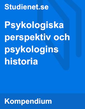 Psykologiska perspektiv och psykologins historia