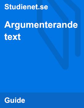 Argumenterande text | Guide